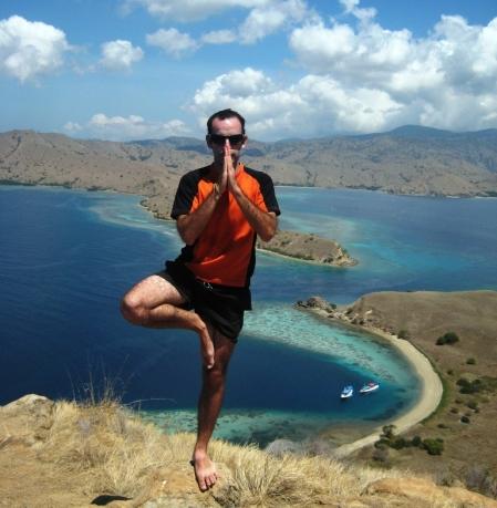 Ante la isla de Komodo.